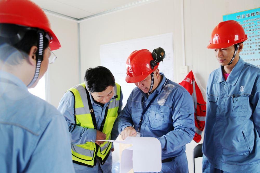 古雷石化项目服务小组首次开展现场安全检查
